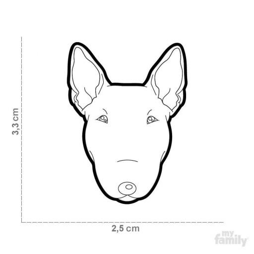 Placa Nuevo Bull Terrier Blanco [1]
