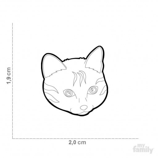 Placa Nuevo Gato Europeo Rojo [1]