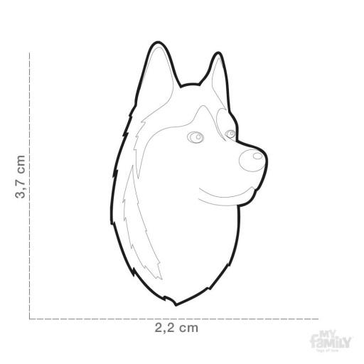 Placa Husky Siberiano [1]