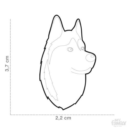 Placa Husky Siberiano Blanco y Negro [1]