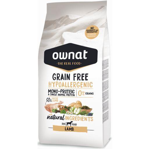 Ownat Just Grain Free Hypoallergenic Cordero para Perro