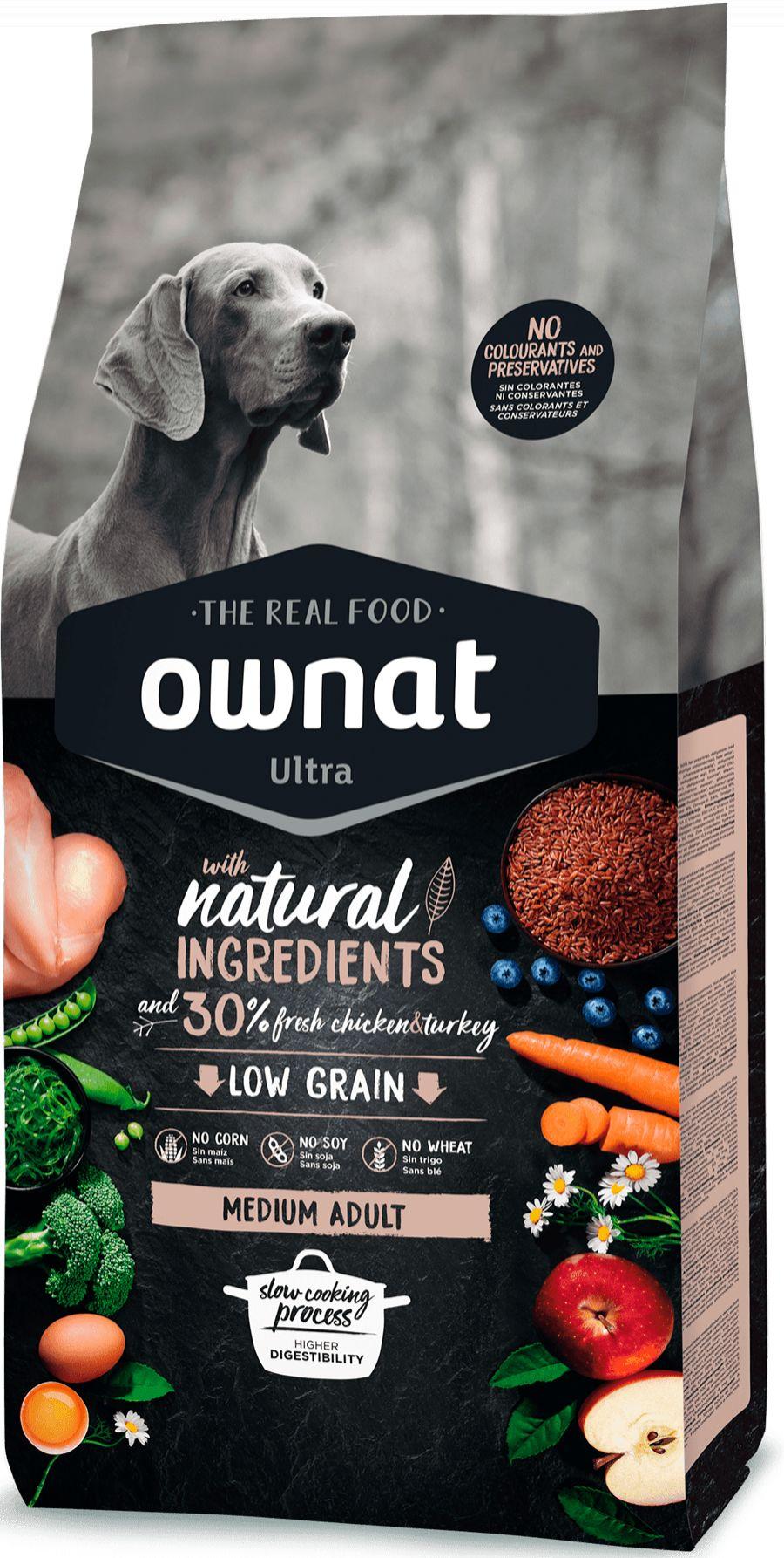 Ownat Ultra Low Grain Medium Adult para Perro