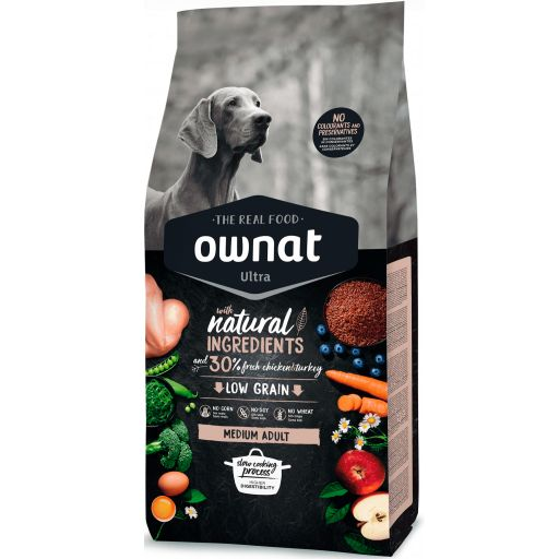 Ownat Ultra Low Grain Medium Adult para Perro [0]