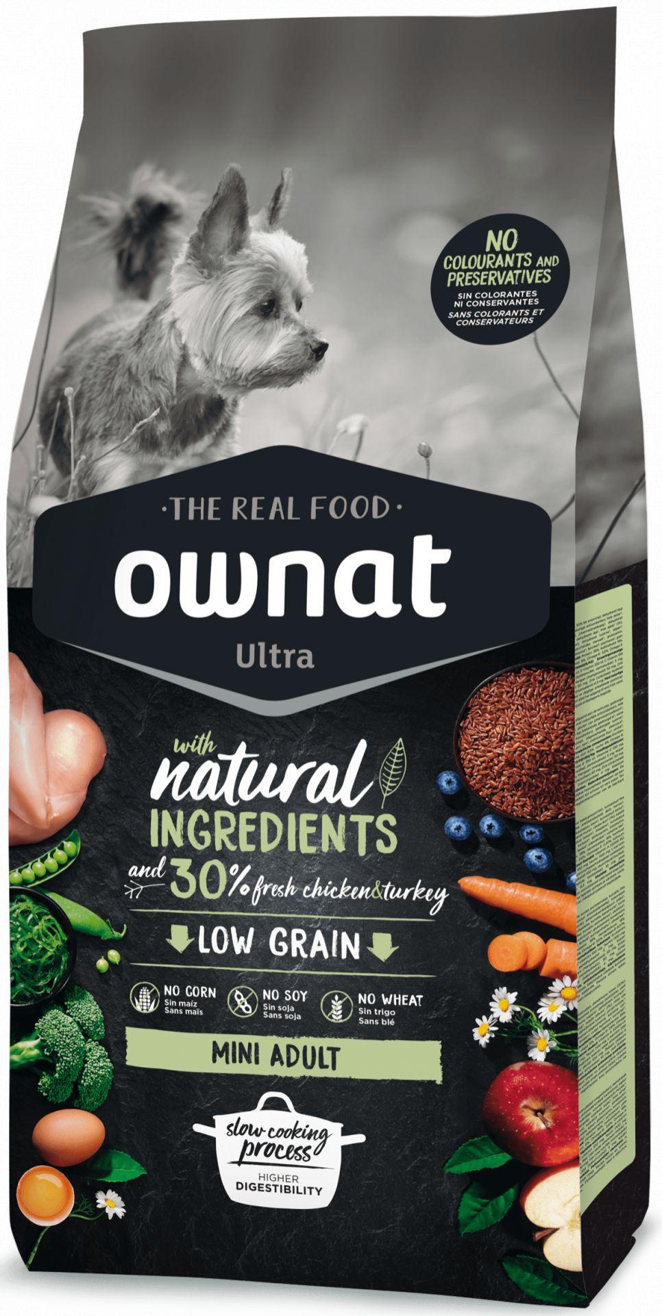 Ownat Ultra Low Grain Mini Adult para Perro