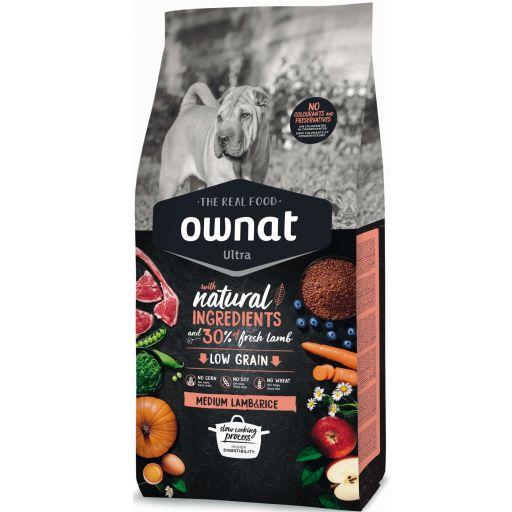 Ownat Ultra Low Grain Cordero & Arroz  Medium para Perro
