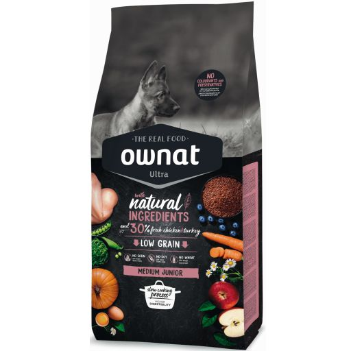 Ownat Ultra Low Grain Medium Junior para Perro