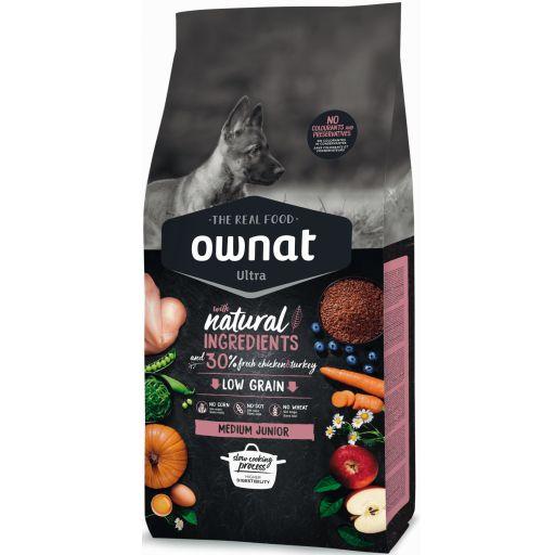 Ownat Ultra Low Grain Medium Junior para Perro