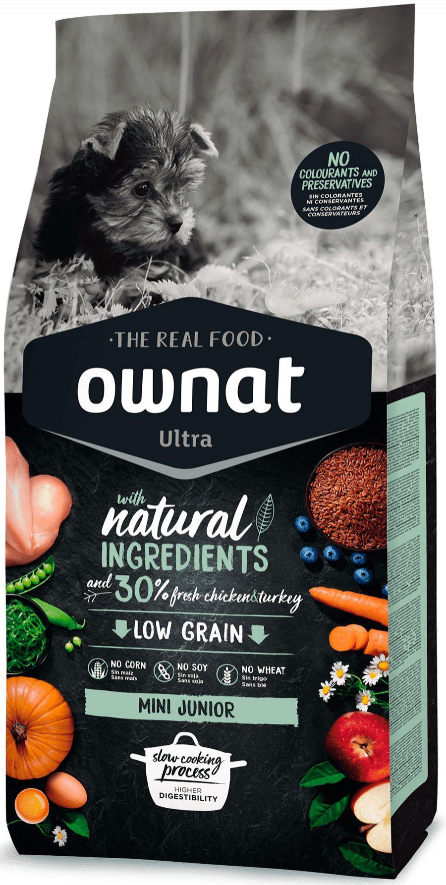 Ownat Ultra Low Grain Mini Junior para Perro