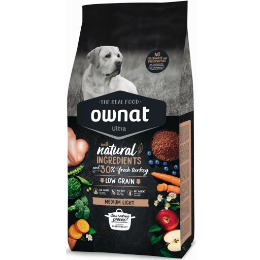 Ownat Ultra Low Grain Light Medium para Perro