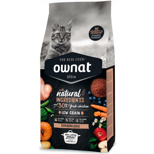 Ownat Ultra Low Grain Pollo & Arroz para Gato