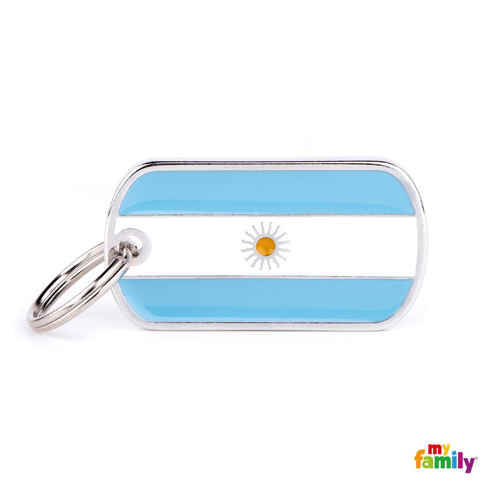 Placa Bandera de Argentina
