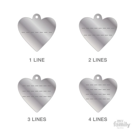 Placa Corazón Pequeño Aluminio Celeste [2]