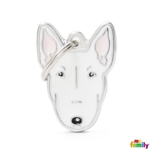 Placa Nuevo Bull Terrier Blanco