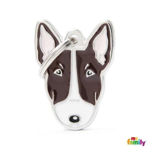 Placa Nuevo Bull Terrier Blanco Marrón