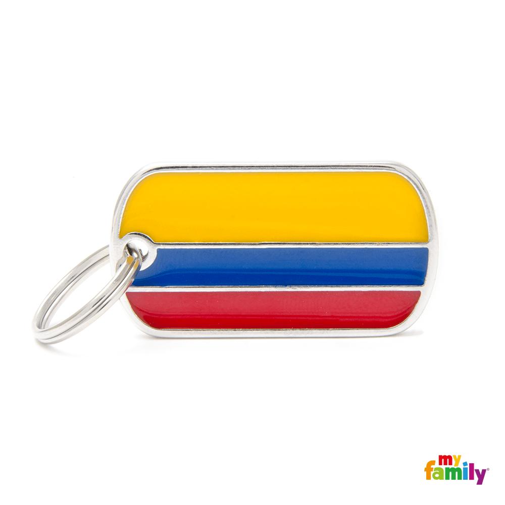 Placa Bandera de Colombia