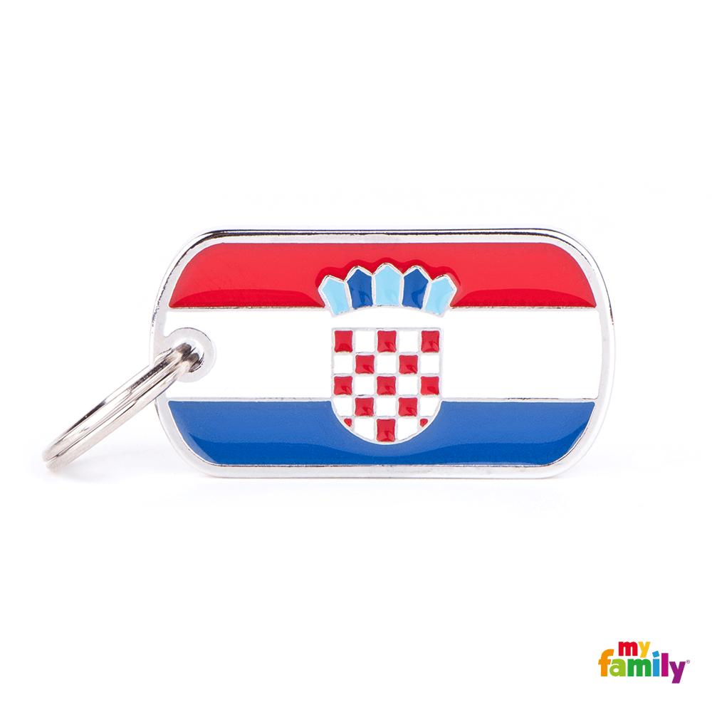 Placa Bandera de Croacia