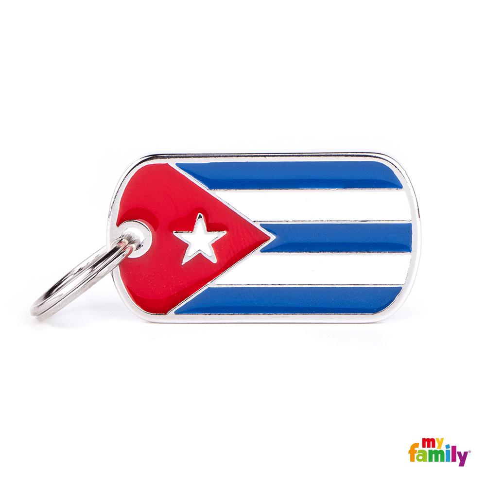 Placa Bandera de Cuba