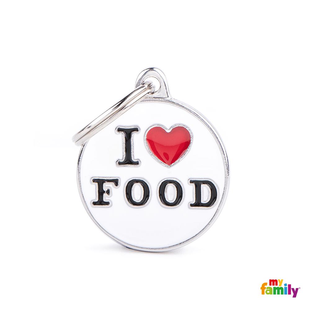Placa Círculo Mediano I Love Food