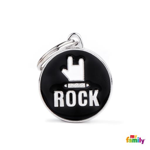 Placa Círculo Mediano Rock