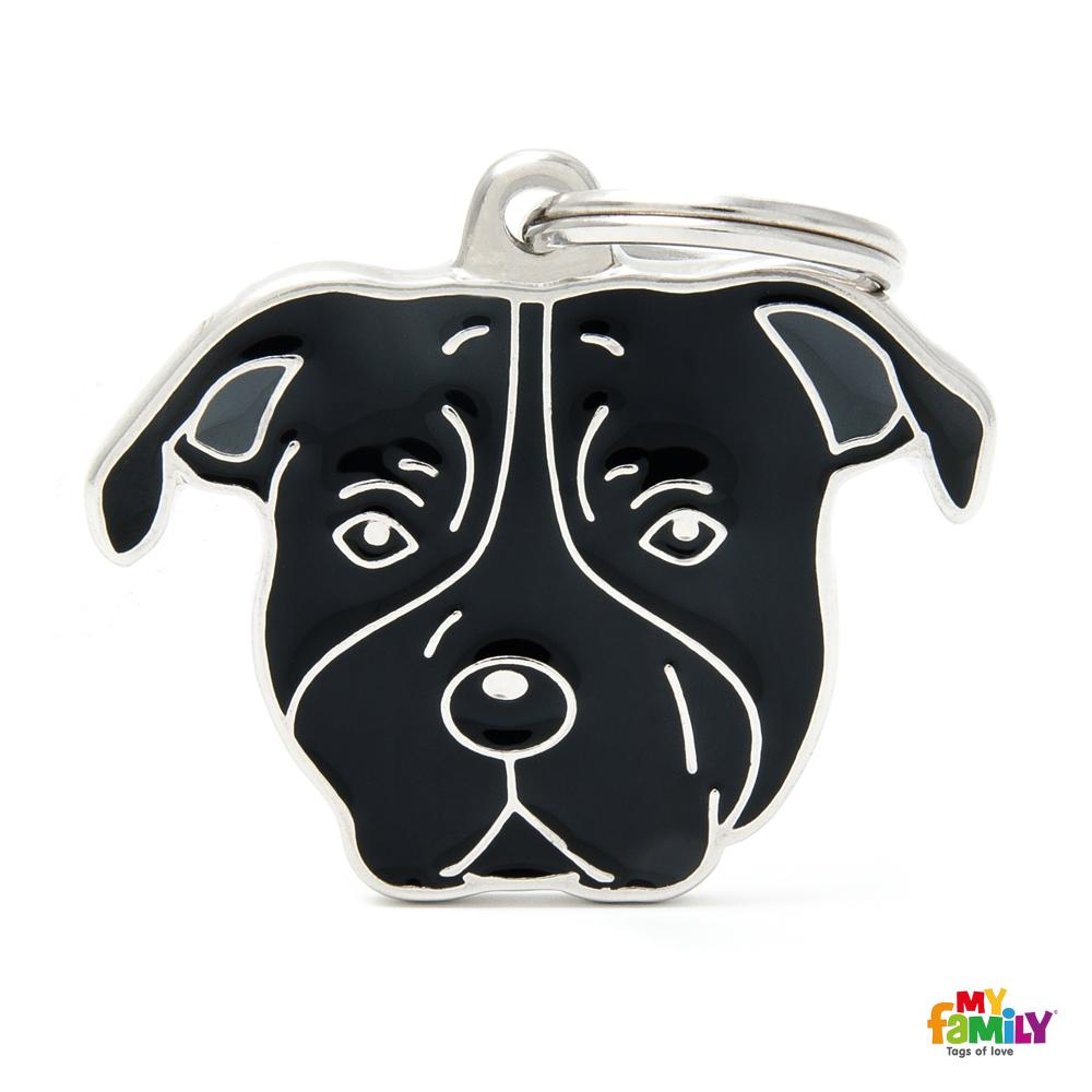 Placa American Staffordshire Terrier Negro