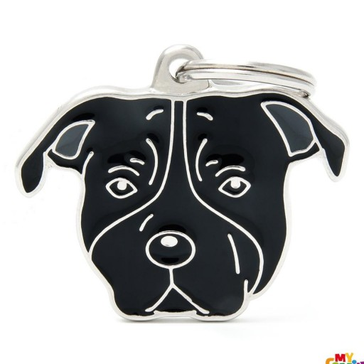 Placa American Staffordshire Terrier Negro [0]