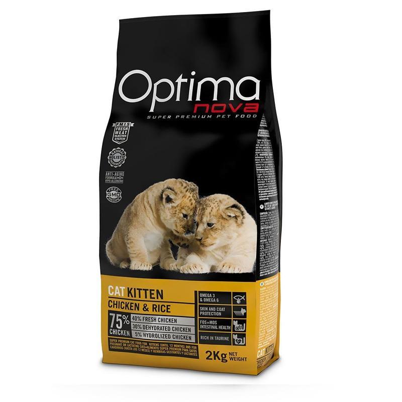 OptimaNova Gato Cachorro Pollo y Arroz (Visan)