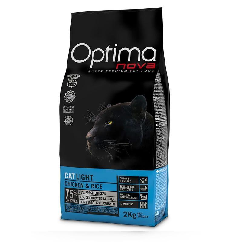 OptimaNova Light Gato Adult Pollo y Arroz (Visan)