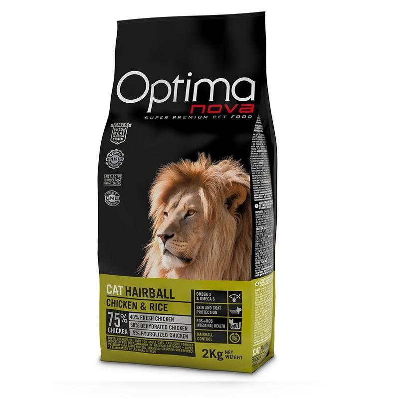 OptimaNova Hairball Gato Adult (Visan)