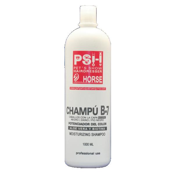 Champú B-7 Aloe Vera + Biotina para Caballo de capa negra