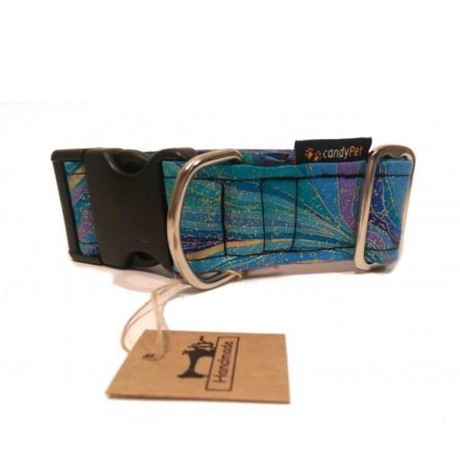 Collar con Click Modelo Ondas Azules