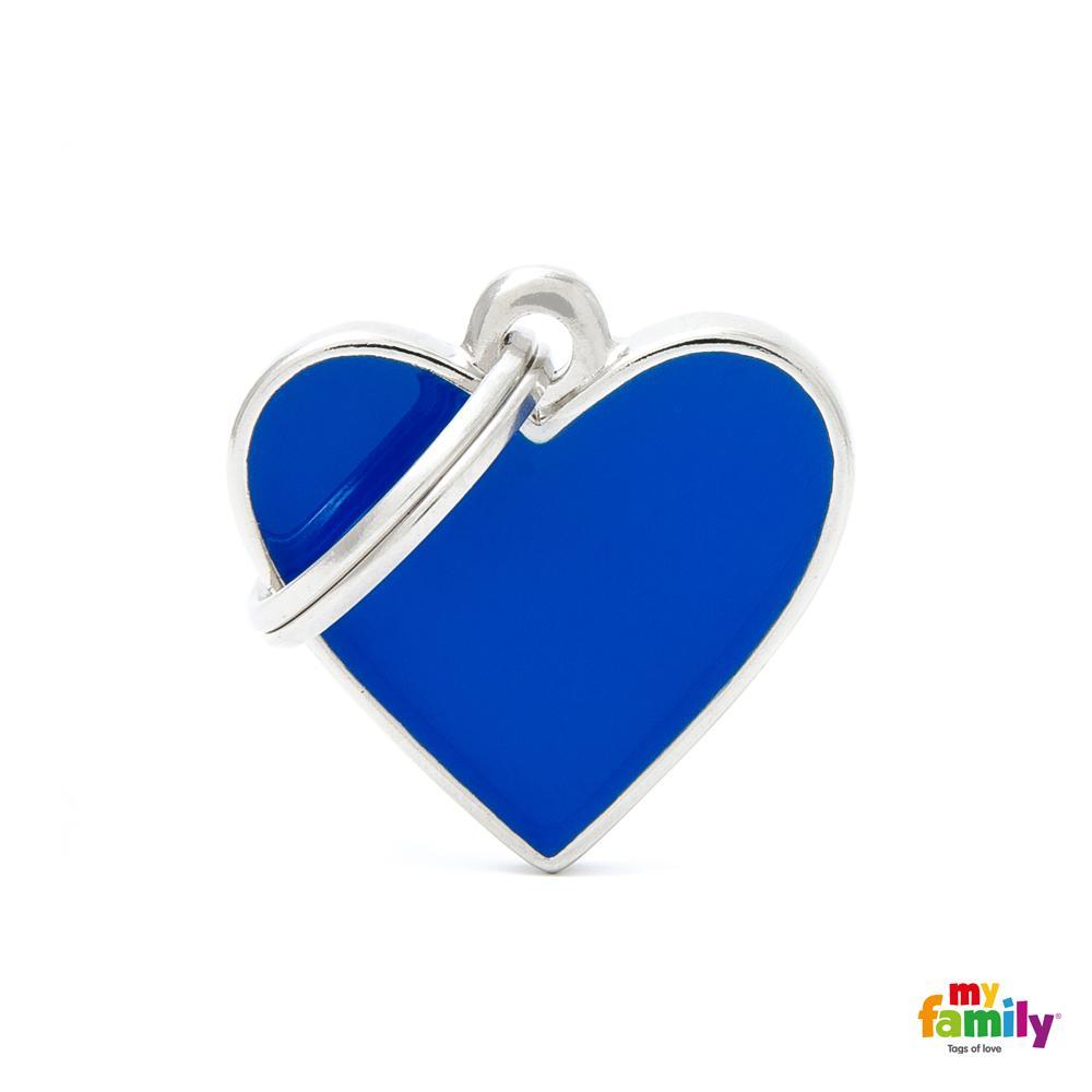 Placa Corazón Pequeño Azul Handmade