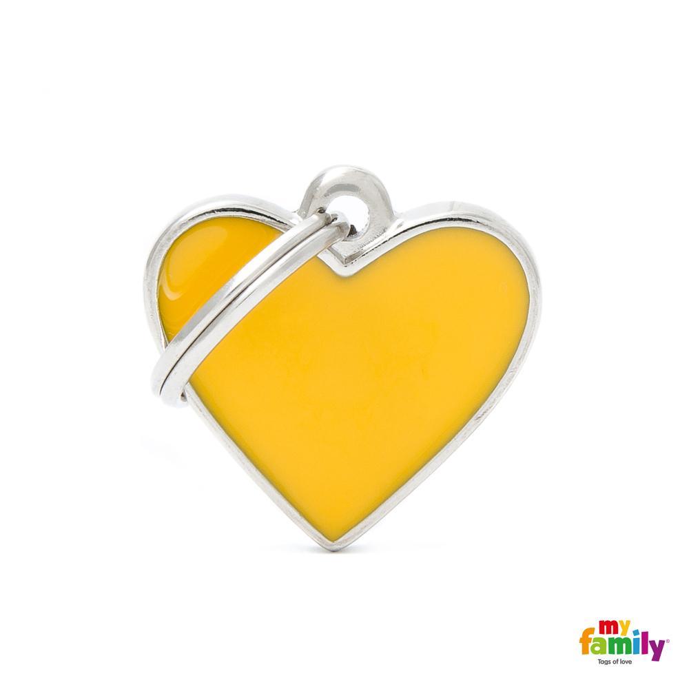 Placa Corazón Pequeño Amarillo Handmade