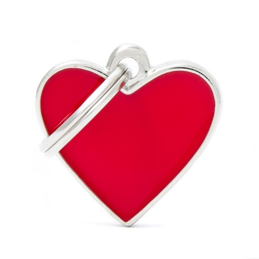 Placa Corazón Pequeño Rojo Handmade
