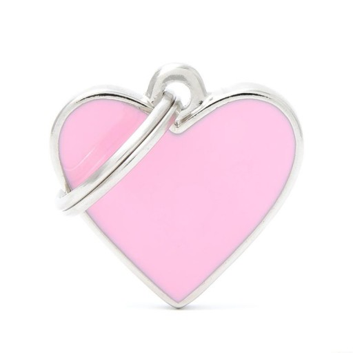 Placa Corazón Pequeño Rosa Handmade