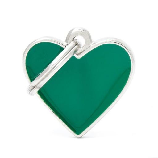 Placa Corazón Pequeño Verde Handmade