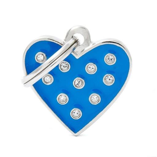 Corazón Strass Azul