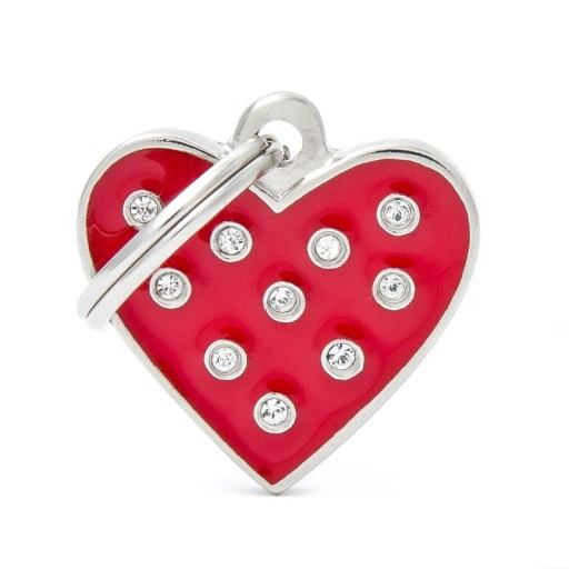 Corazón Strass Rojo