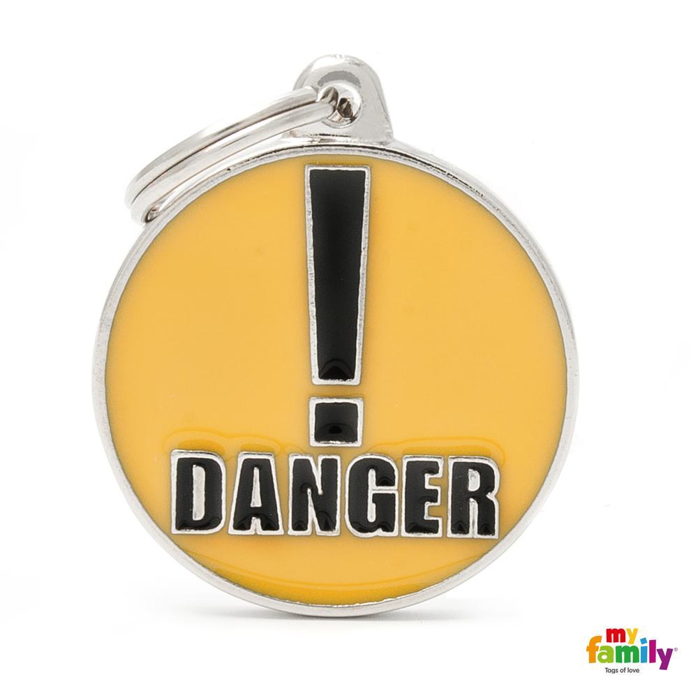 Placa Círculo Grande Danger