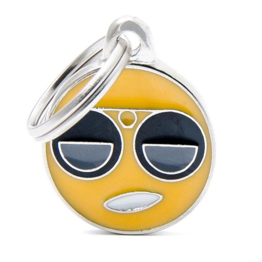 Placa Emoticon Cool