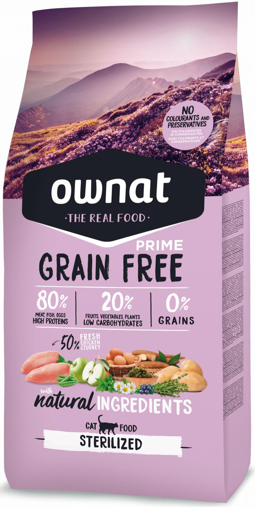 Ownat Grain Free Prime Sterilized Gato