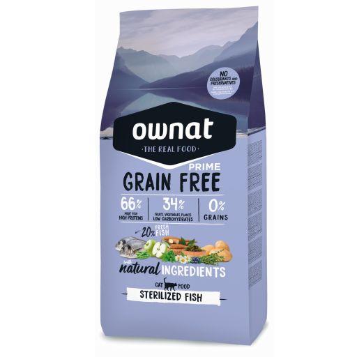Ownat Grain Free Prime Sterilized Pescado Gato