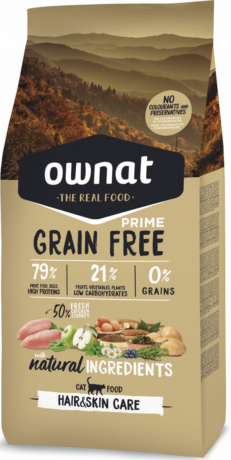 Ownat Grain Free Prime Hair & Skin Gato