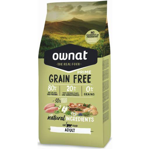 Ownat Grain Free Prime Adult Pollo y Pavo Gato