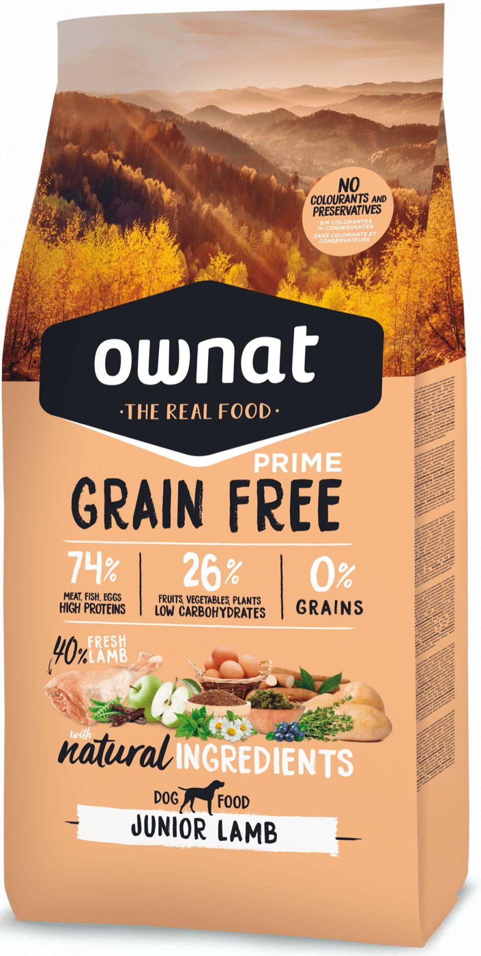 Ownat Grain Free Prime Junior Cordero