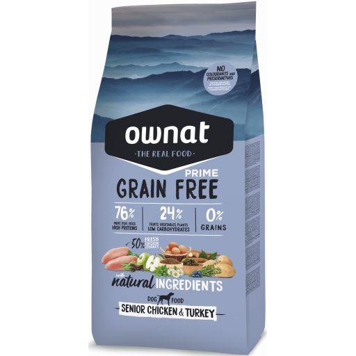 Ownat Grain Free Prime Senior Pollo y Pavo
