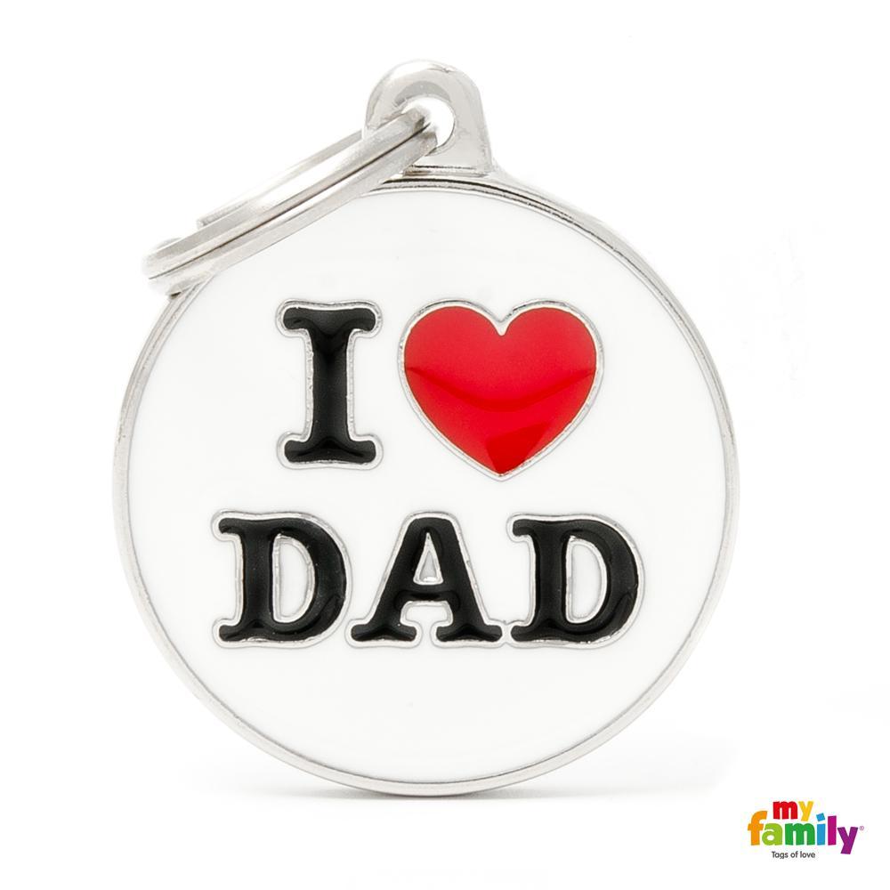 Placa Círculo Grande I Love Dad
