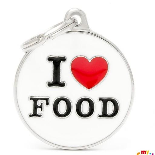 Placa Círculo Grande I Love Food