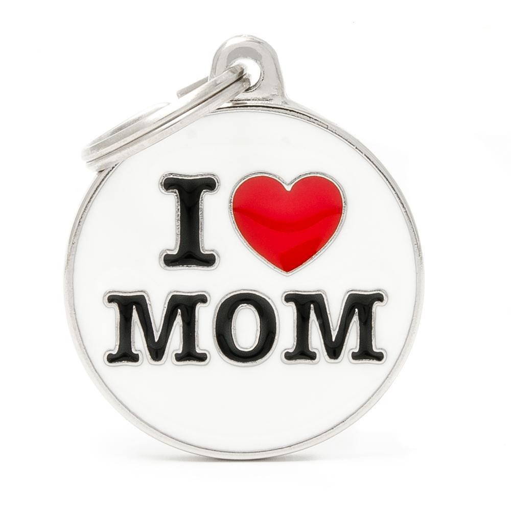 Placa Círculo Grande I Love Mom
