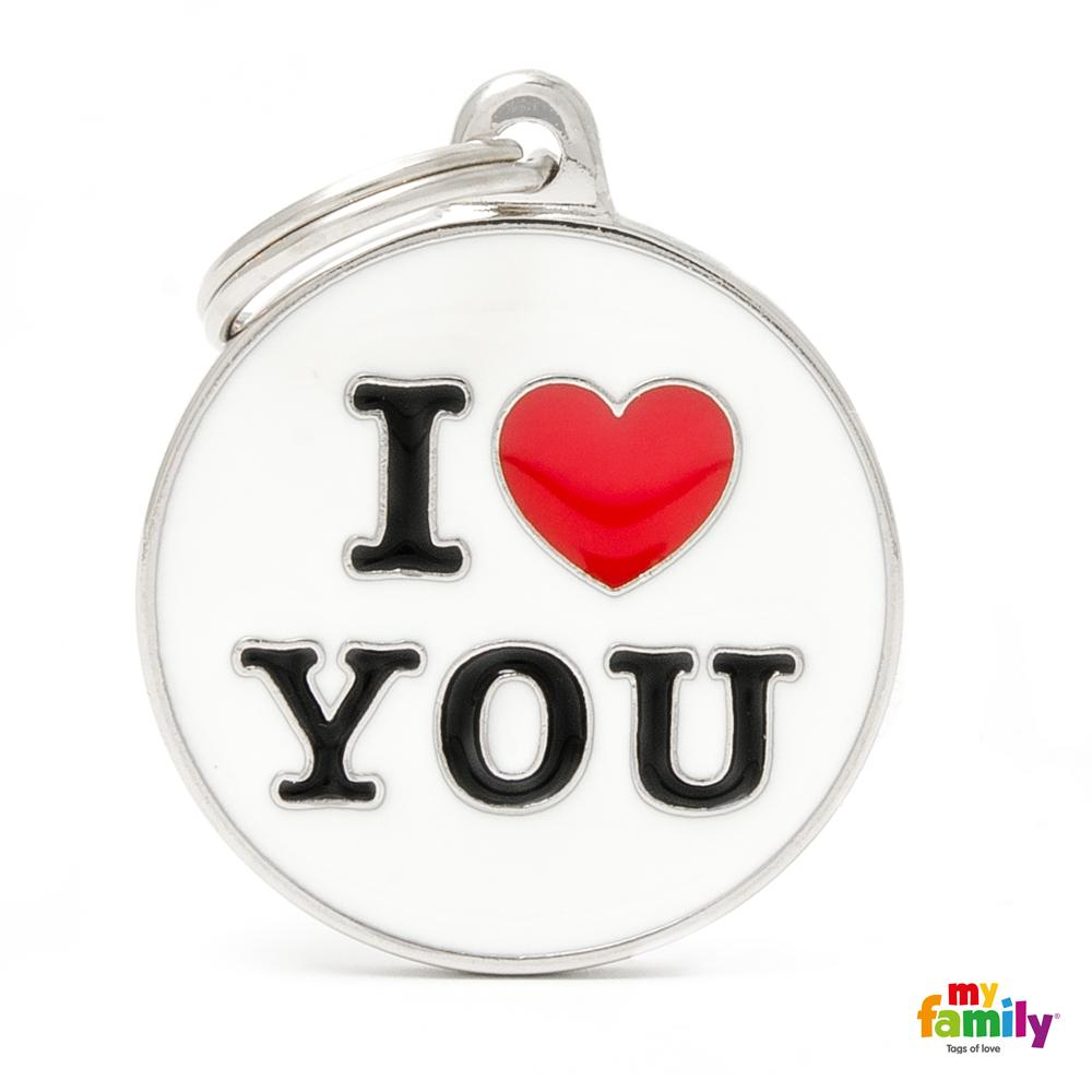 Placa Círculo Grande I Love You