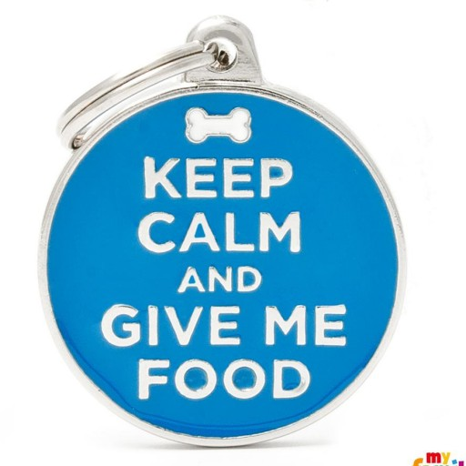 Placa Keep Calm And Give Me Food